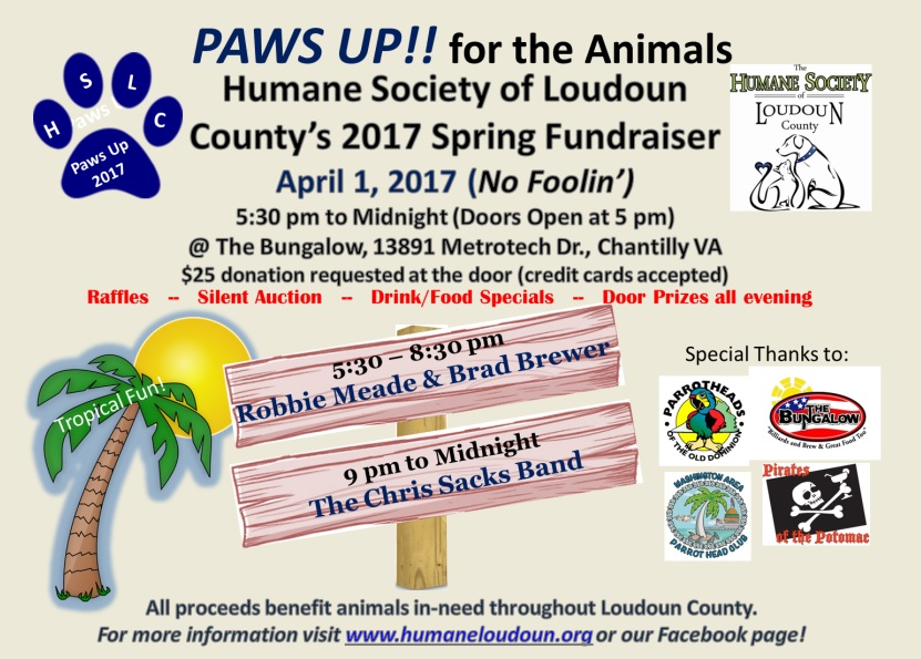 Paws Up for the Animals Loudoun County Fundraiser