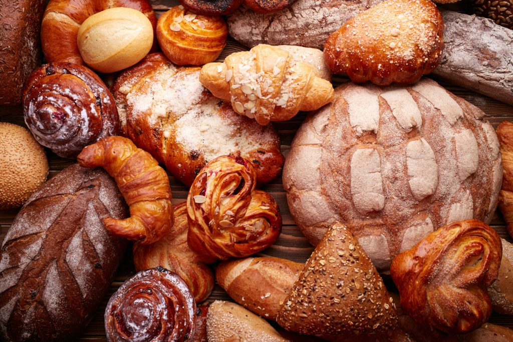 Bread and buns baked goods