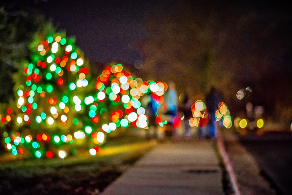 Outdoor Christmas decorations for Bull Run Festival of Lights