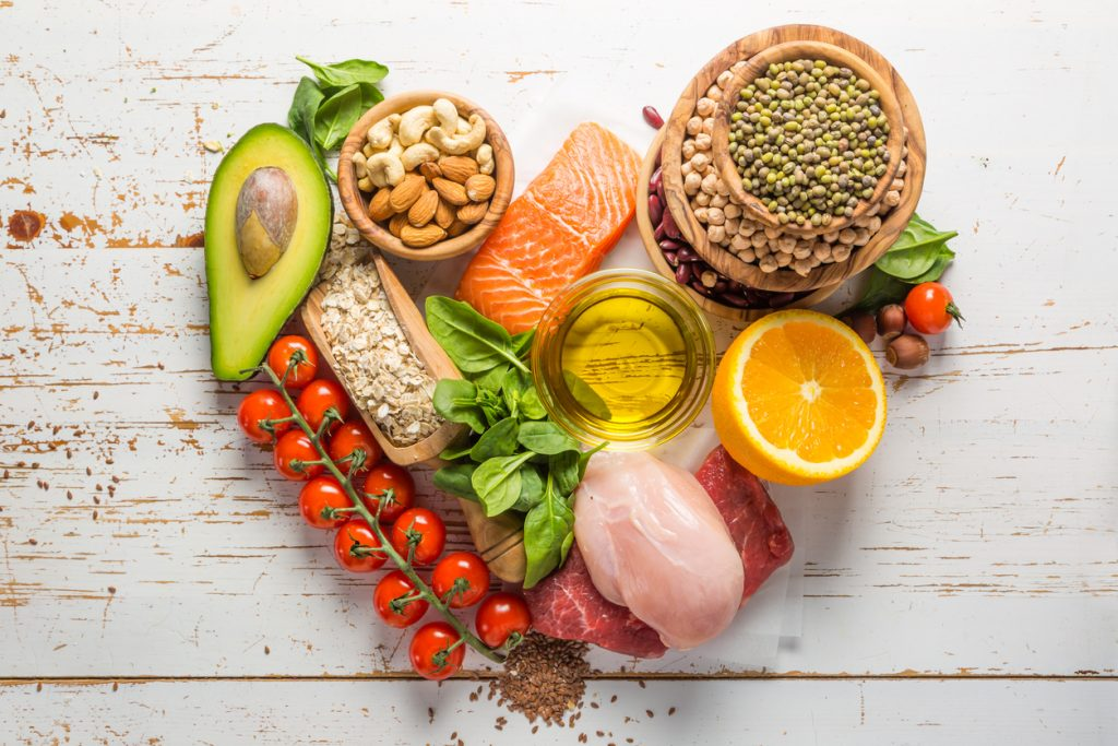 Selection of food for Healthy Restaurants